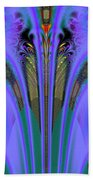 Olympic Torch And Fireworks Fractal 162 Beach Towel