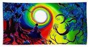 Om Tree Of Life Meditation Beach Towel