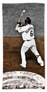 Omar Quintanilla Pro Baseball Player Beach Towel