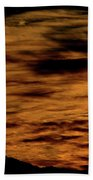 Ominous Orange Beach Towel