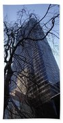 On A Clear Day...moma Courtyard Ny City Beach Towel