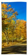 On A Country Road 4 - Paint Beach Towel