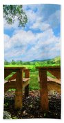 On A Pretty Summer Day Oil Painting Beach Towel