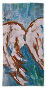 On Angel Wings Beach Towel