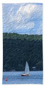 On Cayuga Lake Beach Towel
