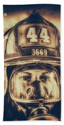 On Duty And Into Fire_dramatic Beach Towel