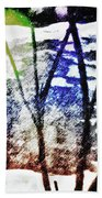 On Frozen Pond Beach Towel