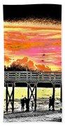 On The Beach Beach Towel by Bill Cannon