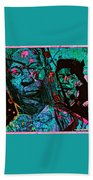 On The Blues Highway With Leadbelly And Muddy Waters Beach Towel