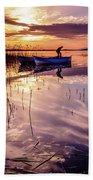 On The Boat Beach Towel by Okan YILMAZ