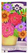 On The Bright Side - Flowers Of Faith Beach Towel
