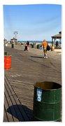 On The Coney Island Boardwalk Beach Towel