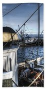 On The Docks In Provincetown Beach Towel