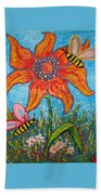 On The Flower Beach Towel