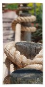 On The Ropes Beach Towel