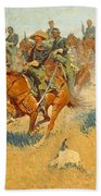 On The Southern Plains Frederic Remington Beach Towel