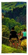 On The Way To Bran Castle Beach Towel