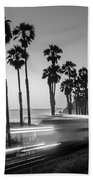 On Time Black And White Beach Towel