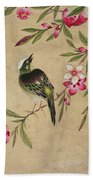 One Of A Series Of Paintings Of Birds And Fruit, Late 19th Century Beach Towel