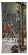 One Of The Soldiers With A Spear Pierced His Side Beach Towel by Tissot