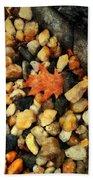 One Orange Leaf Beach Sheet