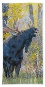 One Proud Bull Moose Beach Towel