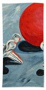 One Red Ball Beach Towel