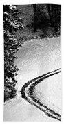 One Way - Winter In Switzerland Beach Towel