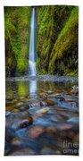 Oneonta Cascades Beach Towel