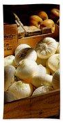Onions Blancs Frais Beach Towel