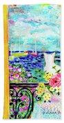 Open Window-colours Beach Towel