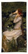 Ophelia Beach Towel by John William Waterhouse
