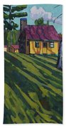 Opinicon Cottages In Autumn Beach Sheet