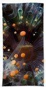 Orange And Black Anemone, Komodo Beach Towel