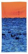 Orange And Blue Morning 4  Beach Towel