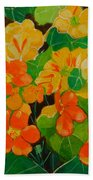 Orange And Yellow Days Beach Towel