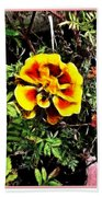 Orange And Yellow Flower Beach Towel