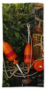 Orange Buoys, Nautical, Marblehead, Ma Beach Towel