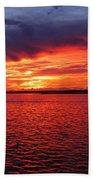 Orange Burst At Daybreak Beach Towel