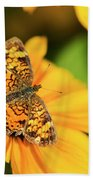 Orange Crescent Butterfly Beach Towel