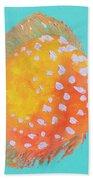 Orange Discus Fish With Purple Spots Beach Towel