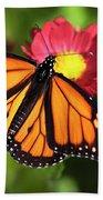 Orange Drift Monarch Butterfly Beach Towel
