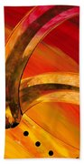 Orange Expressions Beach Towel by Sharon Cummings