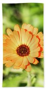 Orange Flower Beach Towel
