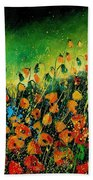 Orange Poppies 459080 Beach Towel