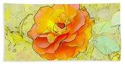 Orange Rose Beach Sheet