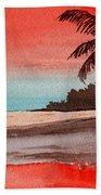 Orange Sky Of Kauai Beach Towel