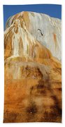 Orange Spring Mound Beach Towel
