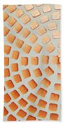Orange Squares Beach Towel