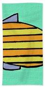 Orange Stripes Beach Towel
